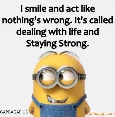 Funny Minion Quote About Life