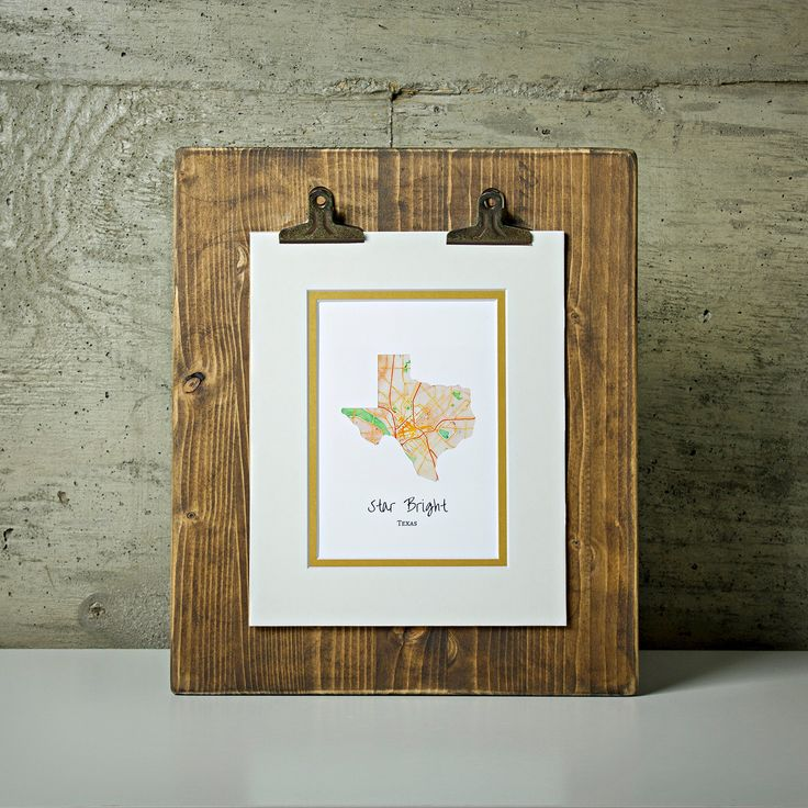 "Personalized Texas State Art - ""Star Bright"" - Chose Your City Map! - Texas Art Print - Texas Wall Art - City Map Art Home Decor - Custom City Art - Map Art - Custom Map Print. This Texas state print is a great home decor piece. The design features the state of Texas overlaid over a watercolor map of the city of your choice. Our artwork is created by inlaying these watercolor stylized map inside the state shape cut from premium cardstock paper. It comes double matted with antiqued gold…"