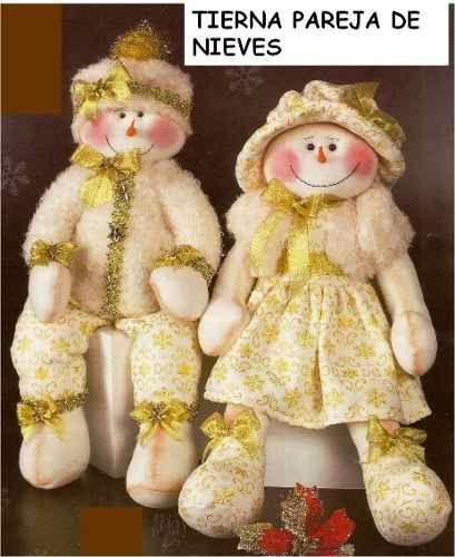 Patrón pareja Nieves navideños