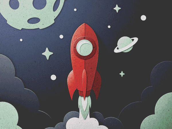 Skuemorphic Paper Rocket on Behance