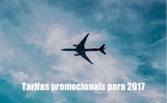 Tarifas promocionais de avião para 2017 #voos #passagens #viagens #avião #2017 #ofertas