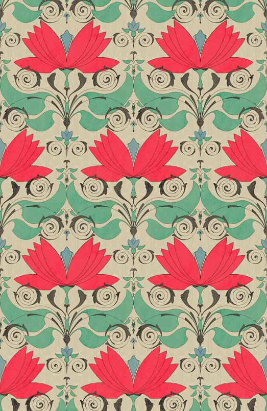 Pattern by Muravka - this would look great framed
