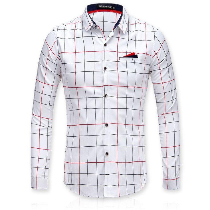 Men Business Casual Long Sleeve Shirt