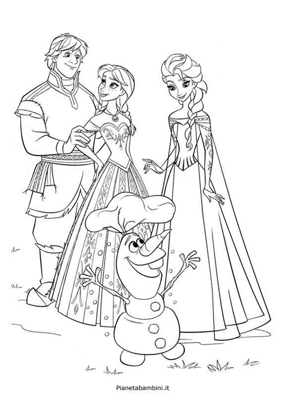 84 Disegni Da Colorare Di Frozen 1 E 2 Frozen Coloring Pages