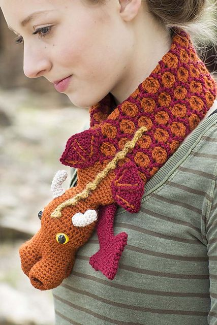 Free Crochet Dragon Scarf Pattern : 17 best images about Crochet - Dragons on Pinterest Free ...