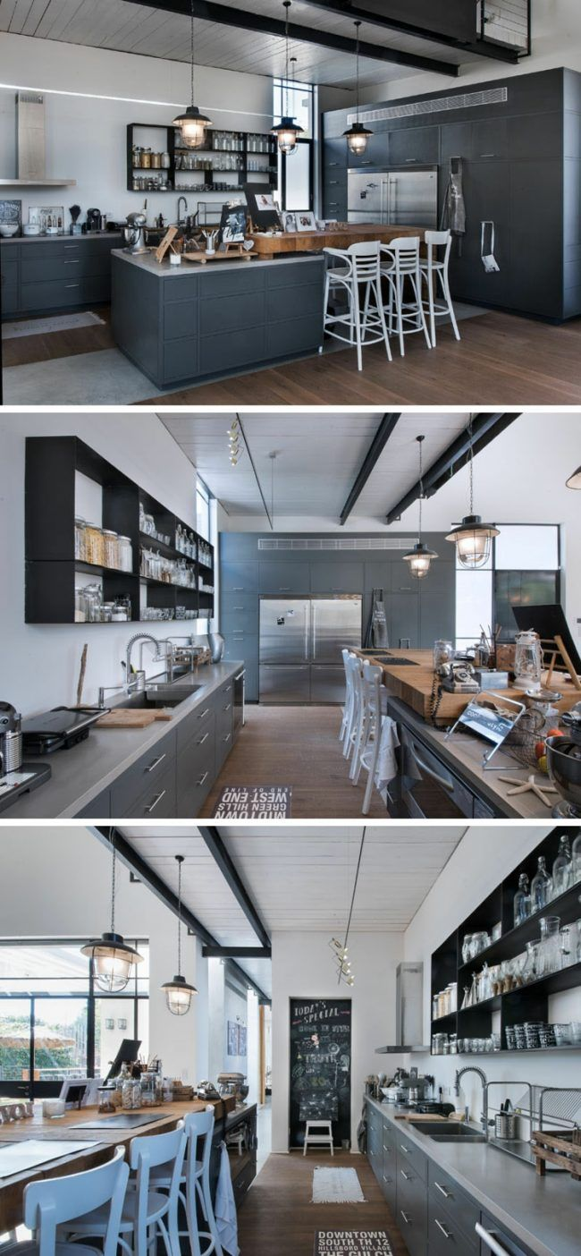 In Diesem Luxuriösen, Modernen Haus In Loftstil, Entworfen Von Neuman  Hayner Architects Sind Hängesessel Und Schaukel Aus Ratan Und Holz Ein  Highlight.