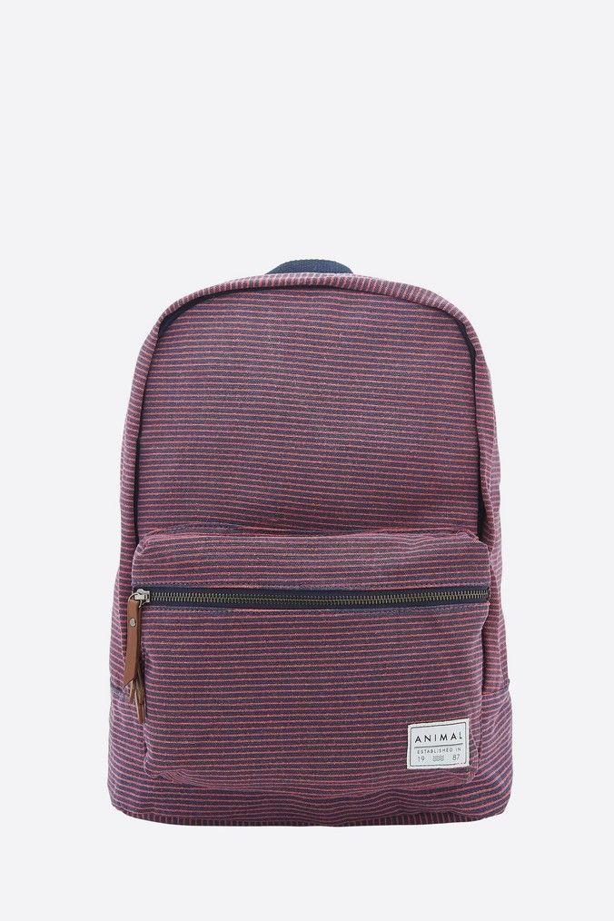 Animal Burst Backpack in Stripes