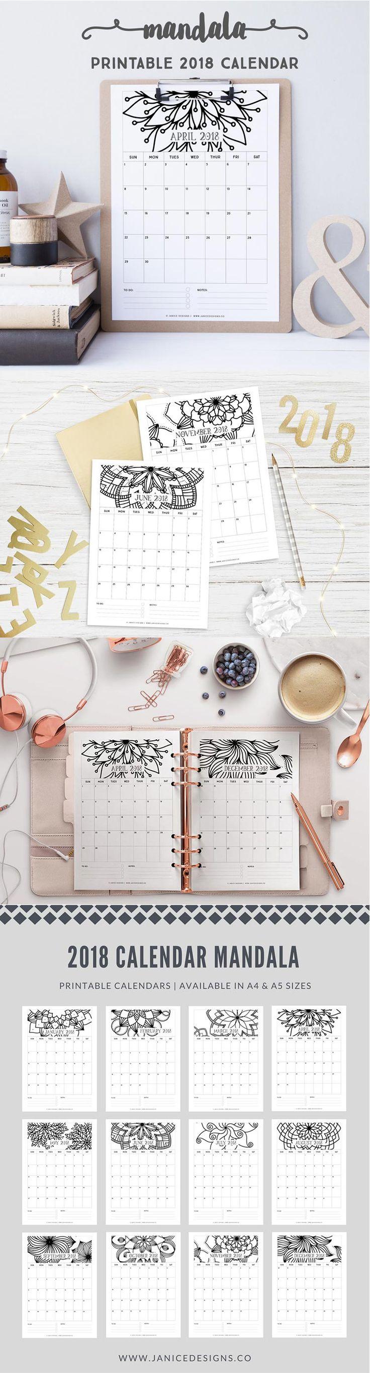 die besten 25 kalender 2018 ideen auf pinterest. Black Bedroom Furniture Sets. Home Design Ideas