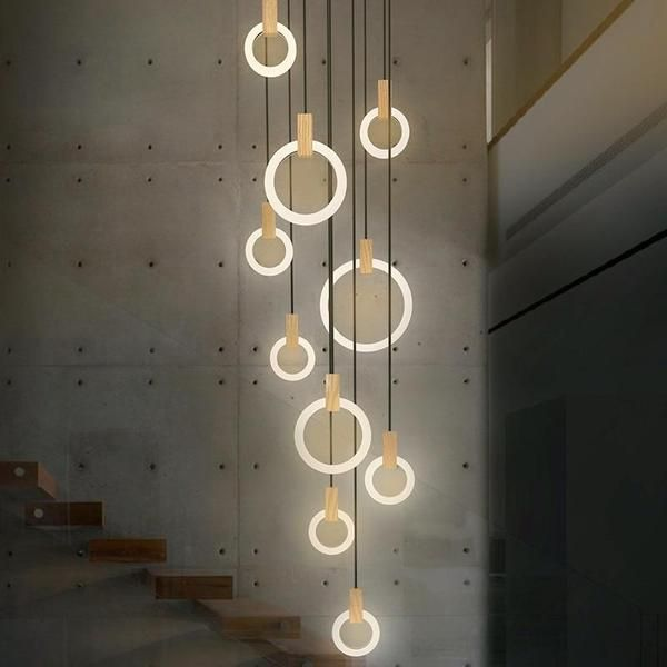 LED Wave Chandelier