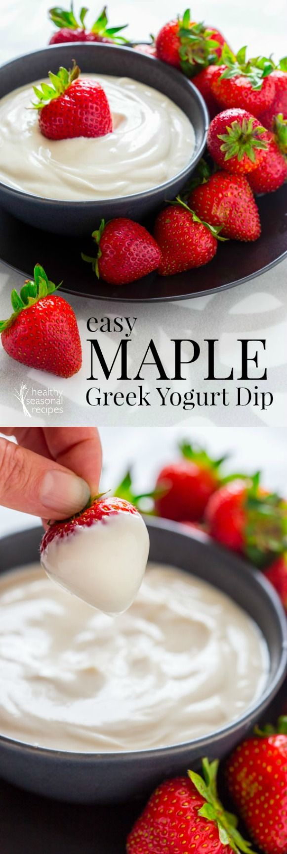 easy maple greek yogurt dip - Healthy Seasonal Recipes