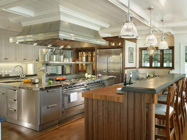 dream kitchen - Google Search  The stainless looks so good in this kitchen.