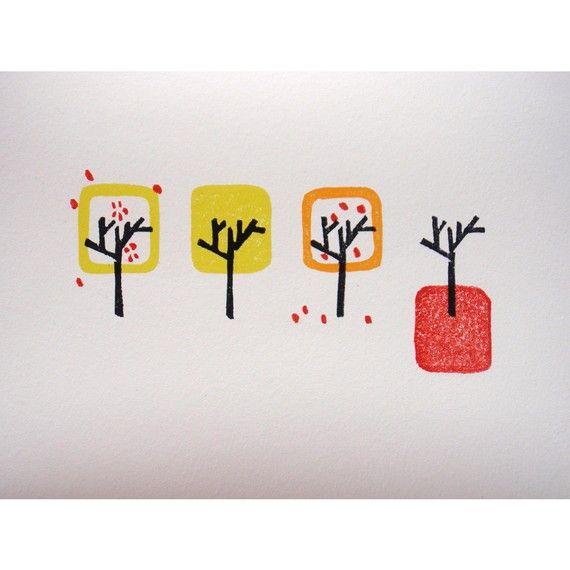 four seasons  original limited edition linocut by littlehillBIGSEA, £45.00Stamps Art, Limited Editing, Four Seasons, Originals Limited, Style Prints, Japanese Style, Editing Linocut, Modern Japanese