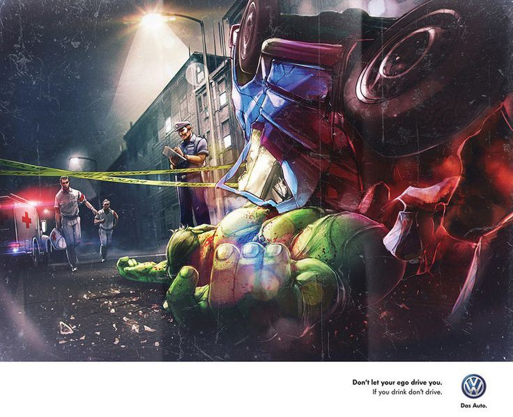Sobering Anti-Drunk Driving Ads - featuring Superheroes