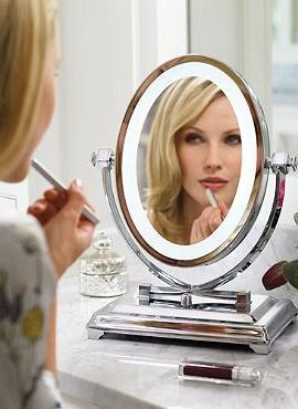 Gift a special woman in your life with a bright way to get ready with the Oversized Vanity Mirror that illuminates and magnifies to help her look her best. http://www.amazon.com/dp/B01EL2KIA4