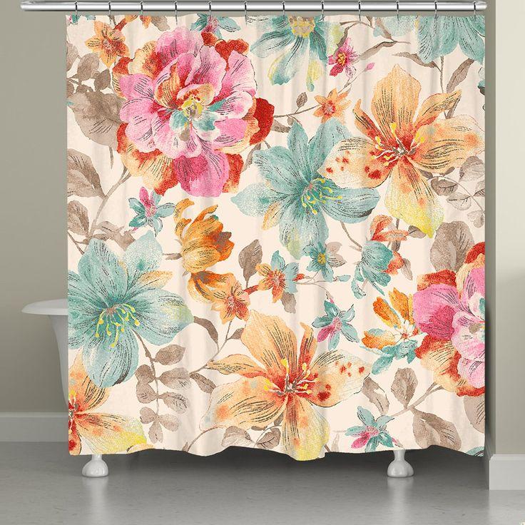Sweet Warm Summer Lilies Shower Curtain