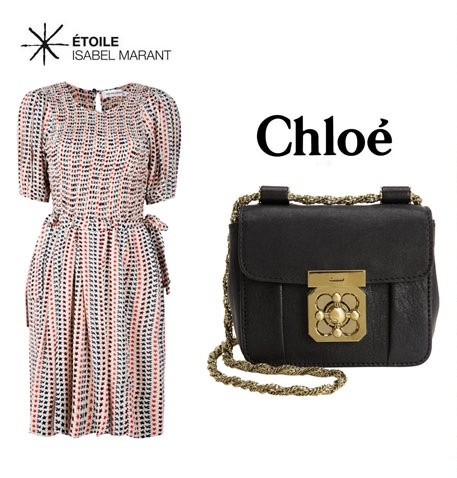 One of my fav designers Etoile Isabel Marant Melissa printed Dress teamed with the cutest Chloe Mini Elsie Bag. Perfect for long awaited sunny days, or add a jacket until temperatures get there!