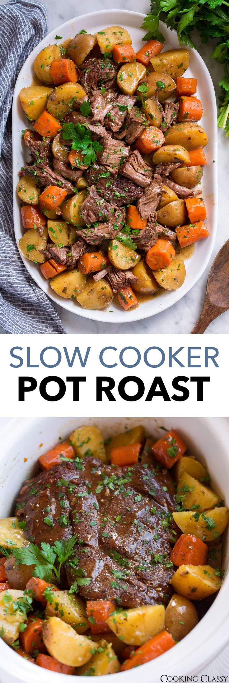 Best Ever Crock Pot Roast! Easy, flavorful and love that the veggies are mush! #…   – Food