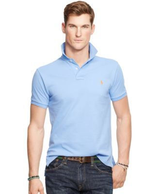 Polo Ralph Lauren Men\u0027s Classic-Fit Mesh Polo Shirt - Men\u0027s Brands - Men -