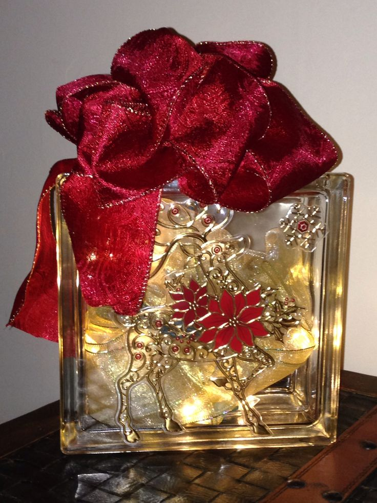 Glass Block Craft Ideas For Christmas Part - 19: Christmas Craft- Glass Block ;) This Is My First One, But I Really