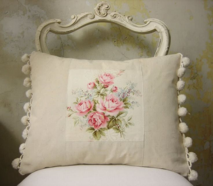 Shabby Chic Pillow Ideas : french vintage fabric cushion pillow. ...almohadas Pinterest