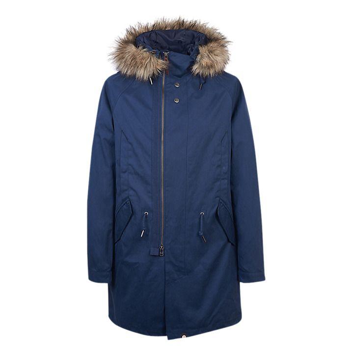 Buy Pretty Green Kallerton Parka Jacket, Navy, S Online at johnlewis.com