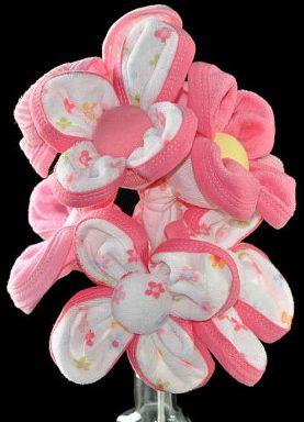 Flower bouquet made of washcloths