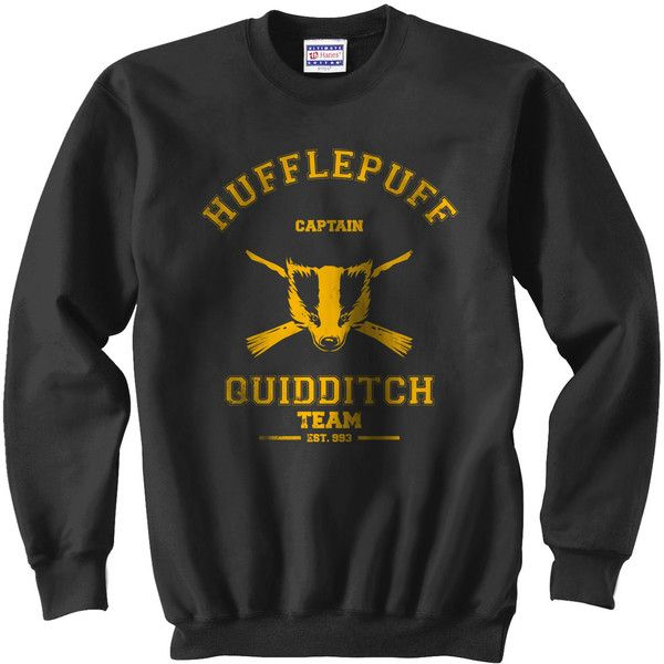 CAPTAIN Hufflepuff Quidditch team Unisex Sweatshirt S - 3XL ($28) ❤ liked on Polyvore featuring tops, hoodies, sweatshirts, harry potter, hufflepuff, shirts, sweatshirt, hooded sweatshirt, pullover hooded sweatshirt and unisex hoodies