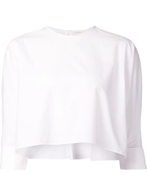 Shop Delpozo cropped flared blouse in Kirna Zabête from the world's best independent boutiques at farfetch.com. Over 1000 designers from 300 boutiques in one website.