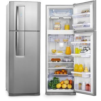 geladeira electrolux df42x 382l 2 portas frost free inox