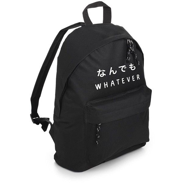 Whatever Backpack School Bag Tumblr Hipster Grunge Goth Japanese... (250  ZAR) ❤ liked on Polyvore featuring bags 21de074a43151