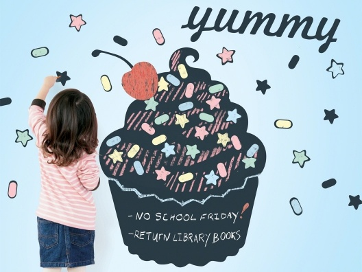 Cupcake Chalkboard Wall Decal: Wall Art, Cupcake Rosa-Choqu, Cupcake Chalkboards, Wall Decals, Wallcandi Art, Chalk Boards, Art Cupcake, Wall Stickers, Chalkboards Wall