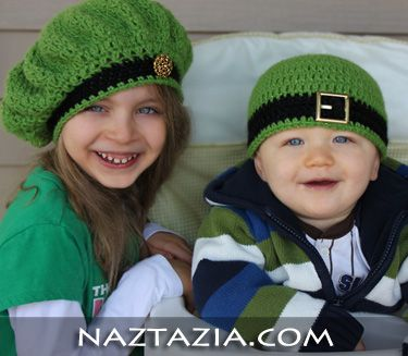 Crochet St. Patrick's Day hat - free patternsFree Pattern, Free Crochet, Crochet Hats, Irish Inspiration, St Patricks Day, Beanie Hats, Hats Pattern, Crochet Pattern, Inspiration Beret
