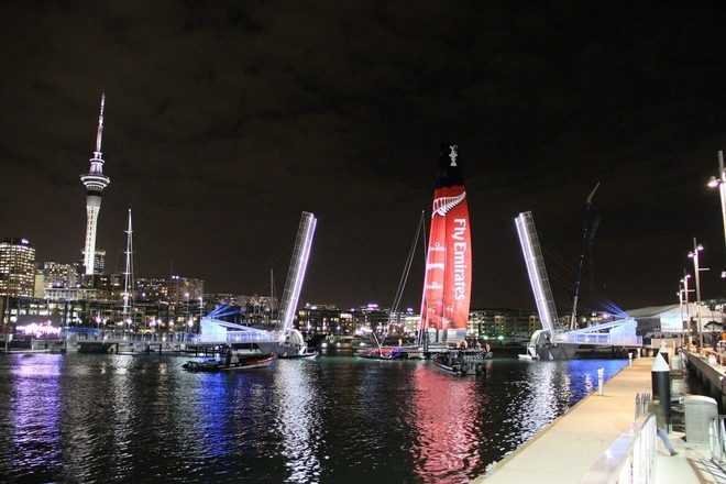 Emirates Team NZ AC72 - Viaduct Harbour, Auckland, New Zealand