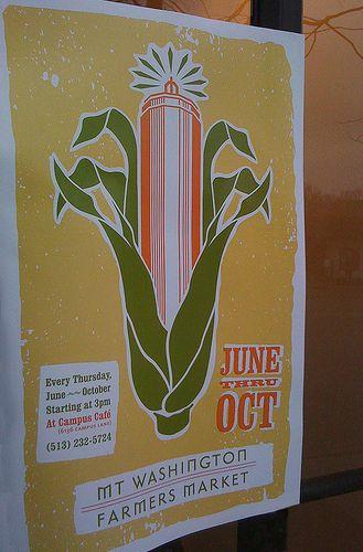Mt. Washington Farmers Market Poster by stanarddesign, via Flickr