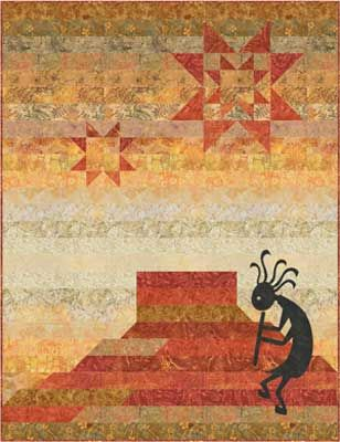Moose on the Porch Quilts - Kokopelli Dreams
