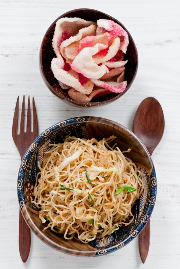 Indonesian fried vermicelli, bihun goreng