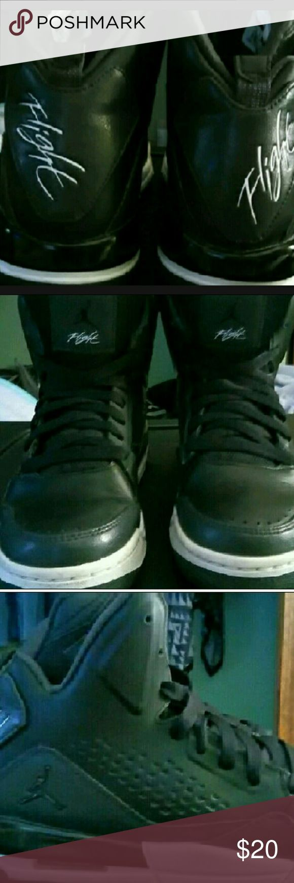 Jordan Flights Jordan Flights  (Black & White) authentic..in Size 6Y which is a Size 7.5  in Womens..and Size 6Y for Men which is a size 6 Jordan Shoes Athletic Shoes