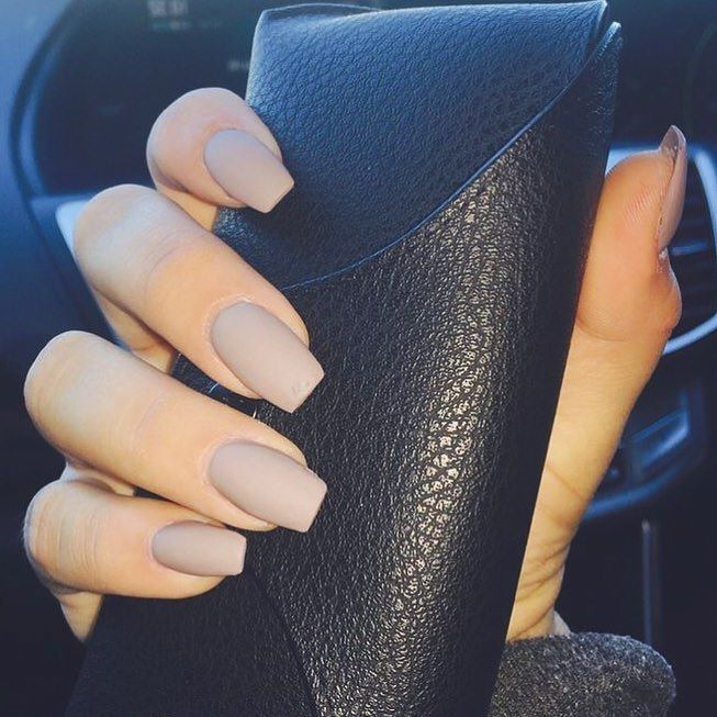 kathysnailsoc // You'll be able to by no means go flawed with matte nude nails #inspo . . Over 15…