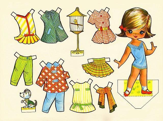 (⑅ ॣ•͈ᴗ•͈ ॣ)♡                                                          Vintage paper doll.