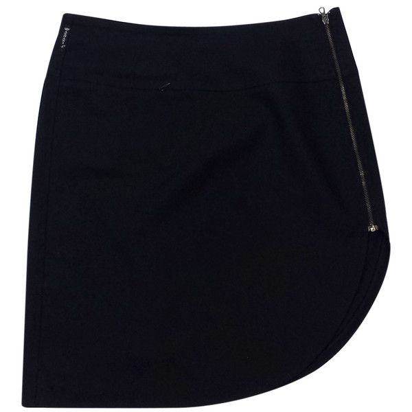 Pre-owned Armani Jeans Black Asymmetric Skirt (220 PEN) ❤ liked on Polyvore featuring skirts, short skirt, asymmetrical skirts, asymmetrical short skirt, asymmetrical long skirt and long skirts