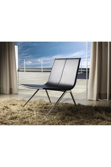 Best Modloft Mayfair Lounge Chair Black Leather Lounge 400 x 300