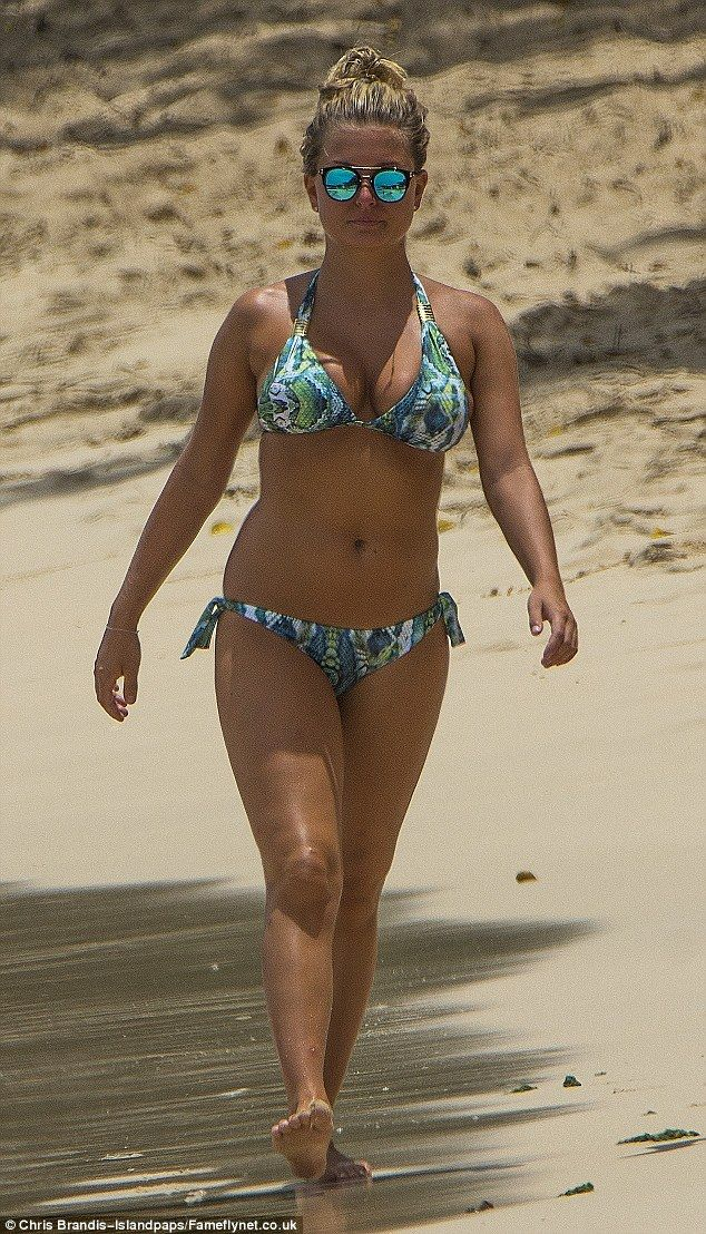 What a beauty: Zara was sporting the Medusa bikini by West Seventy Nine and it flattered her figure perfectly