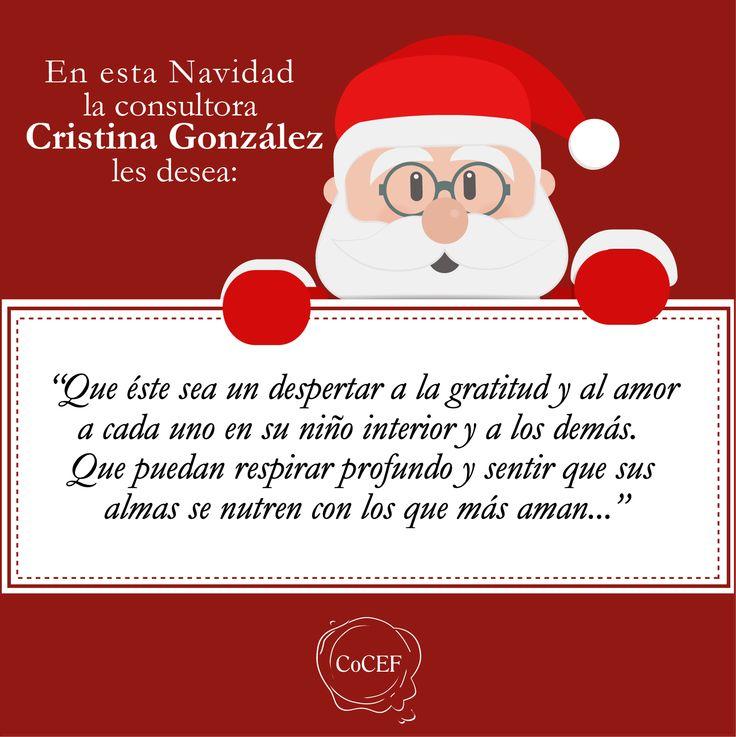 Frase de Navidad de la consultora Cristina González Unzueta @cgonzalezunzuet