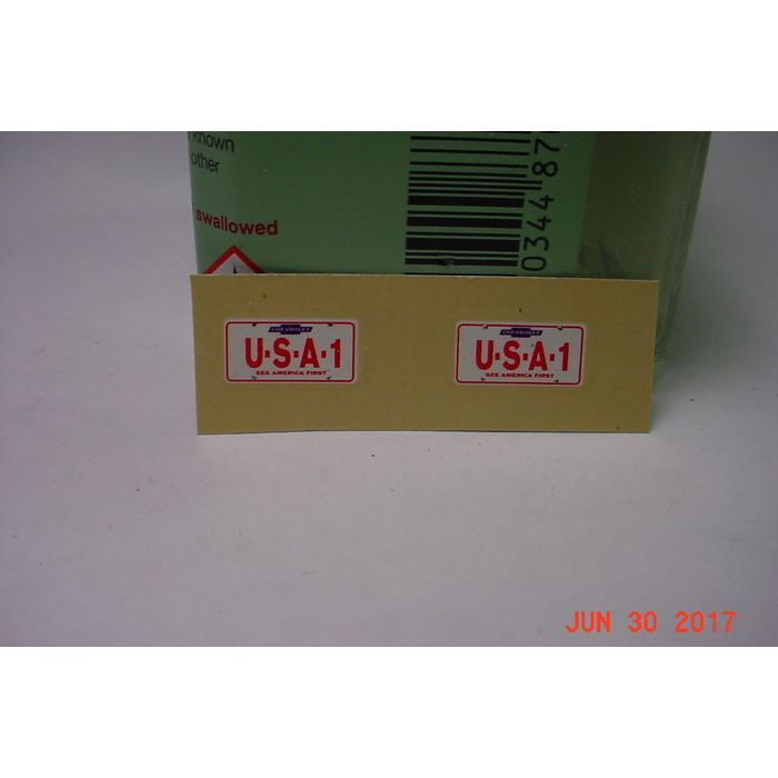 Chevrolet USA 1 License Plate Decals 1/25 New Listing in the Parts,Cars,Models & Kits,Toys & Hobbies Category on eBid United States | 159143312