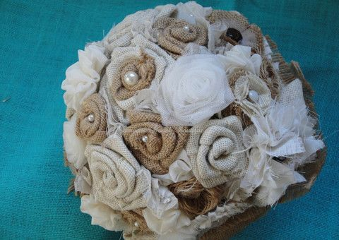 Shabby Chic Hessian Bridal Bouquet – Baroque Bridal Boutique