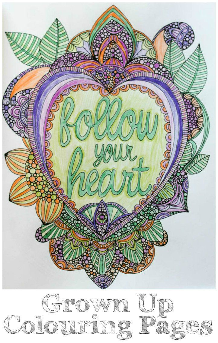 32 best Grown-Up Coloring Pages images on Pinterest | Coloring books ...