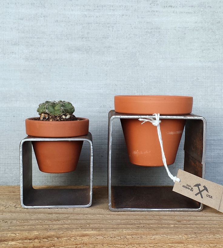 Steel Planter Pair