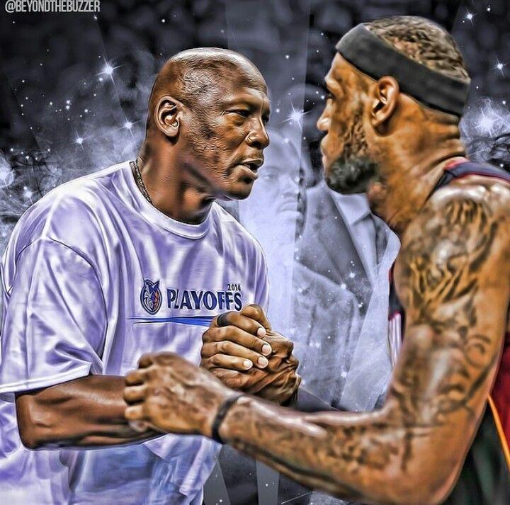 Mike Jordan and LeBron James