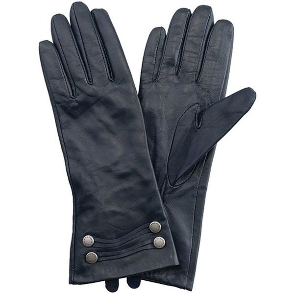 Women's Barbour Squadron Leather Gloves - Black (58 AUD) ❤ liked on Polyvore featuring accessories, gloves, leather gloves, barbour gloves, studded gloves, barbour and military gloves
