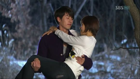Secret Garden - one of the better dramas I've been able to watch.  This wasn't the classic piggyback - but it was still a sweet scene.